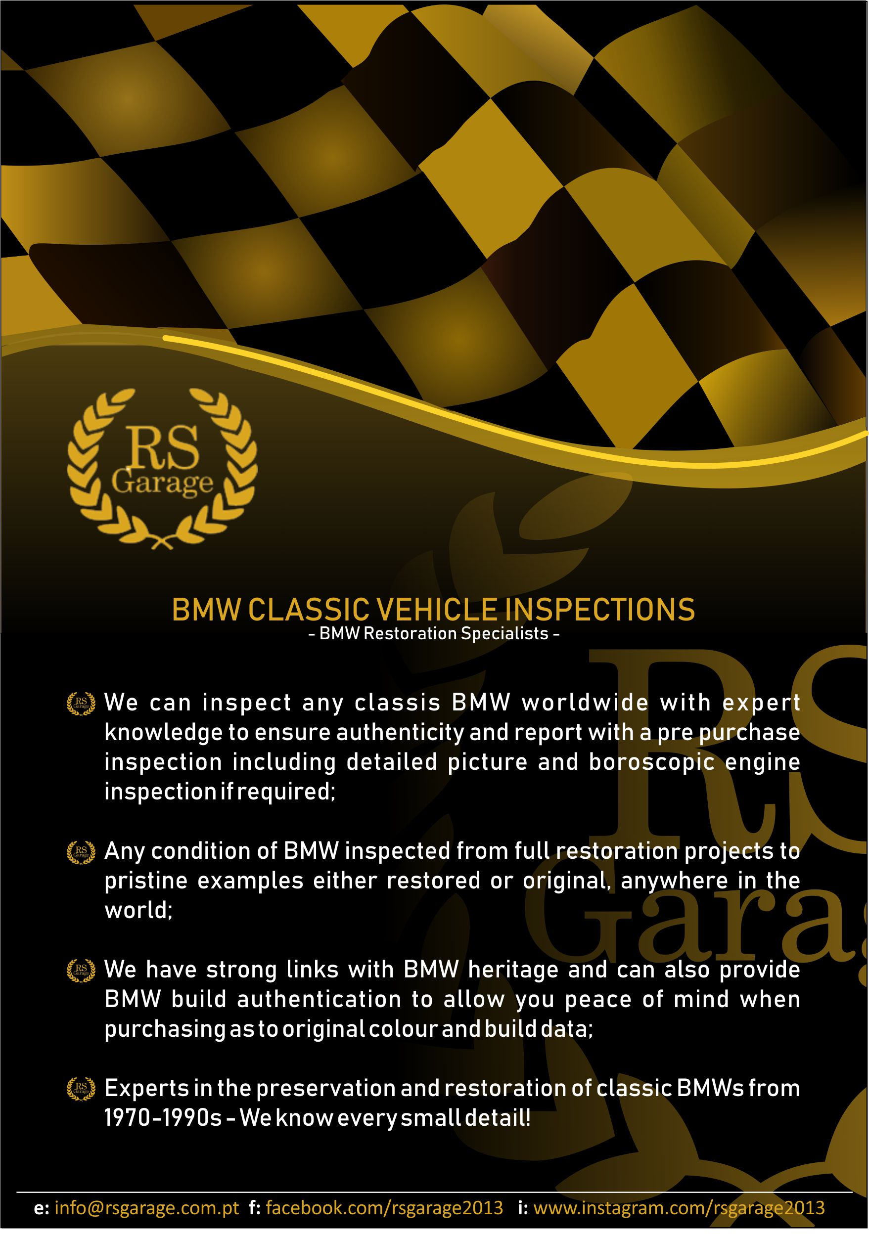 BMW Classics Vehicle Inspections